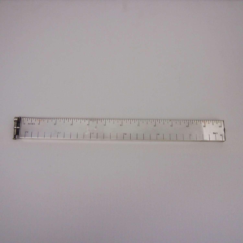 Vintage Dunhill Rare Silver Plated Ruler Desk Lighter . W8644