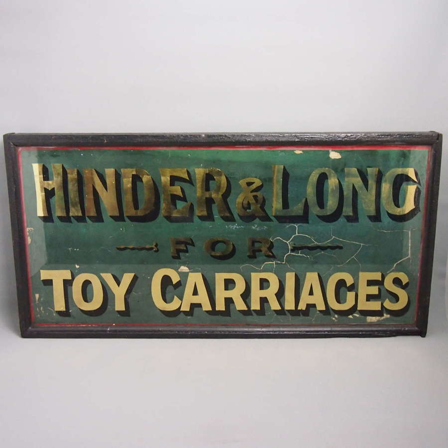 Antique Framed Glass Double Sided Shop Sign . W8648