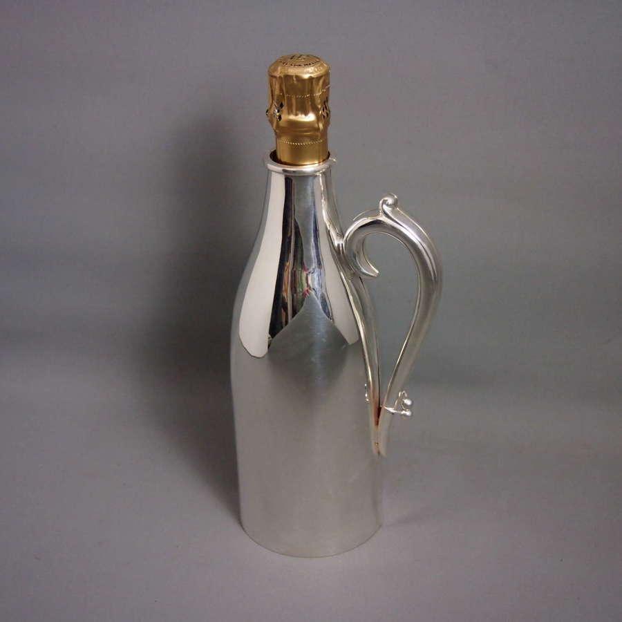 Silver Plated Vintage Wine Bottle Holder. W8649