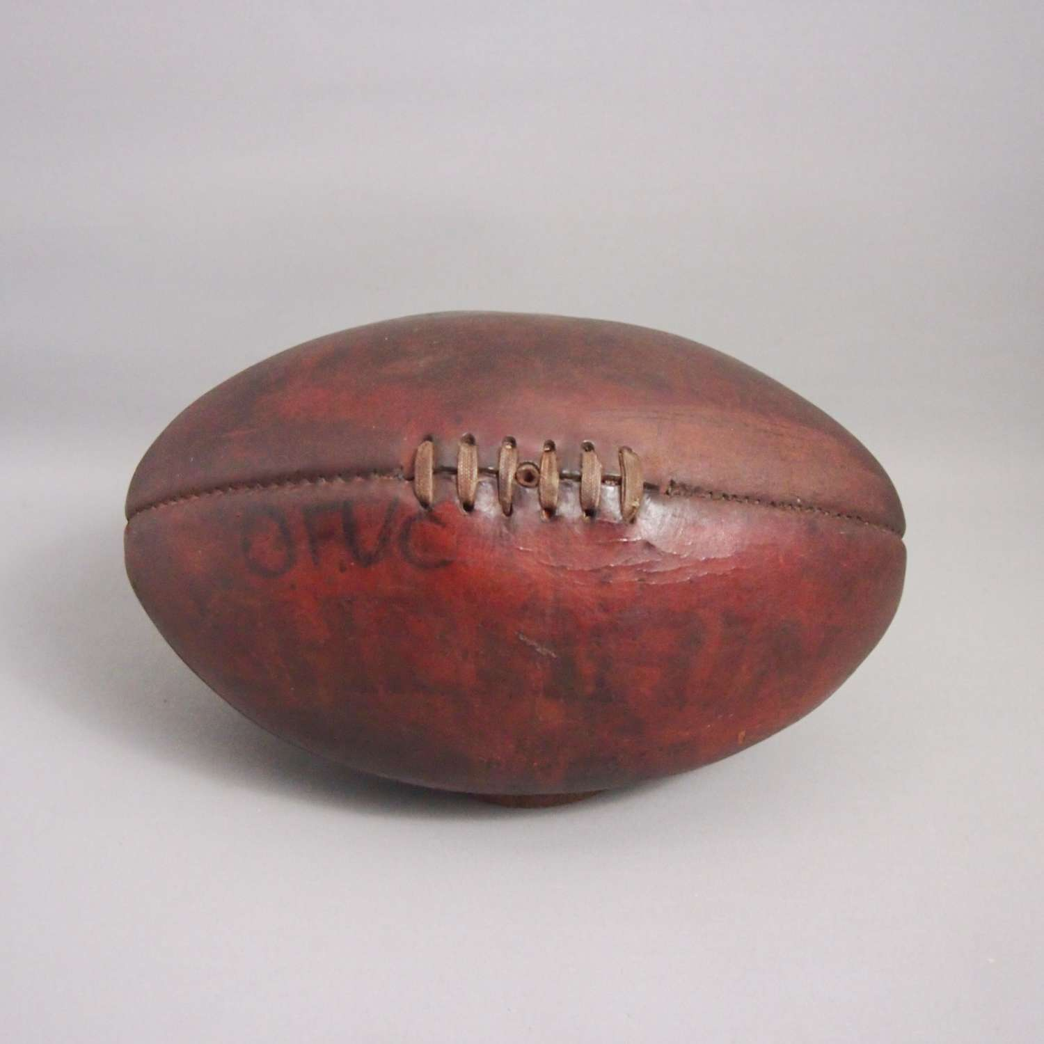 Vintage Original Leather Rugby Ball. W8655