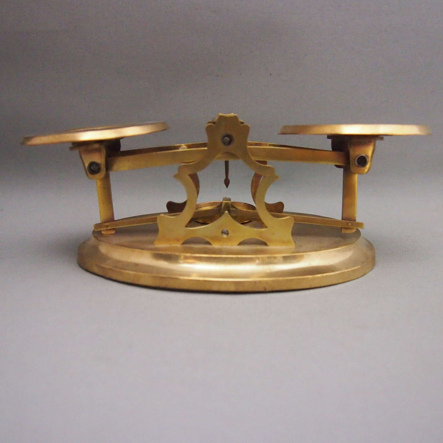 Brass Antique Postal Scales with Set ofWeights, W8659