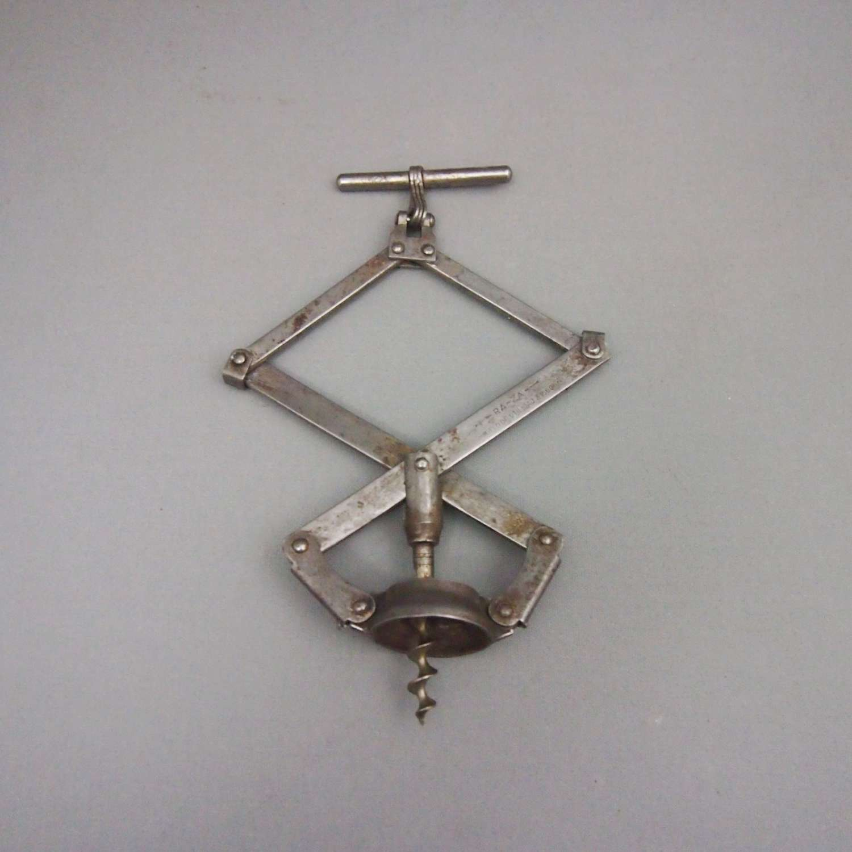 Vintage Concertina Folding Metal RA-ZA Corkscrew, W8660