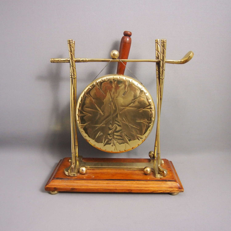 Antique Brass Golf Sporting Gong W8677