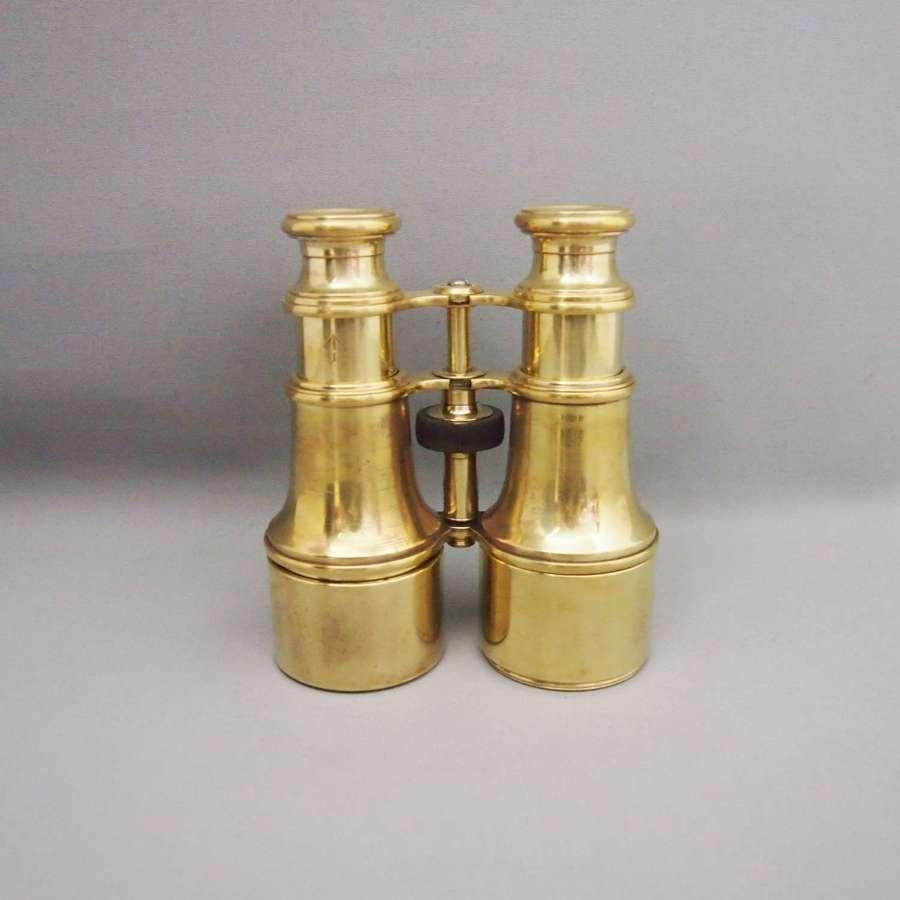Vintage Ist World War Brass Binoculars W8681