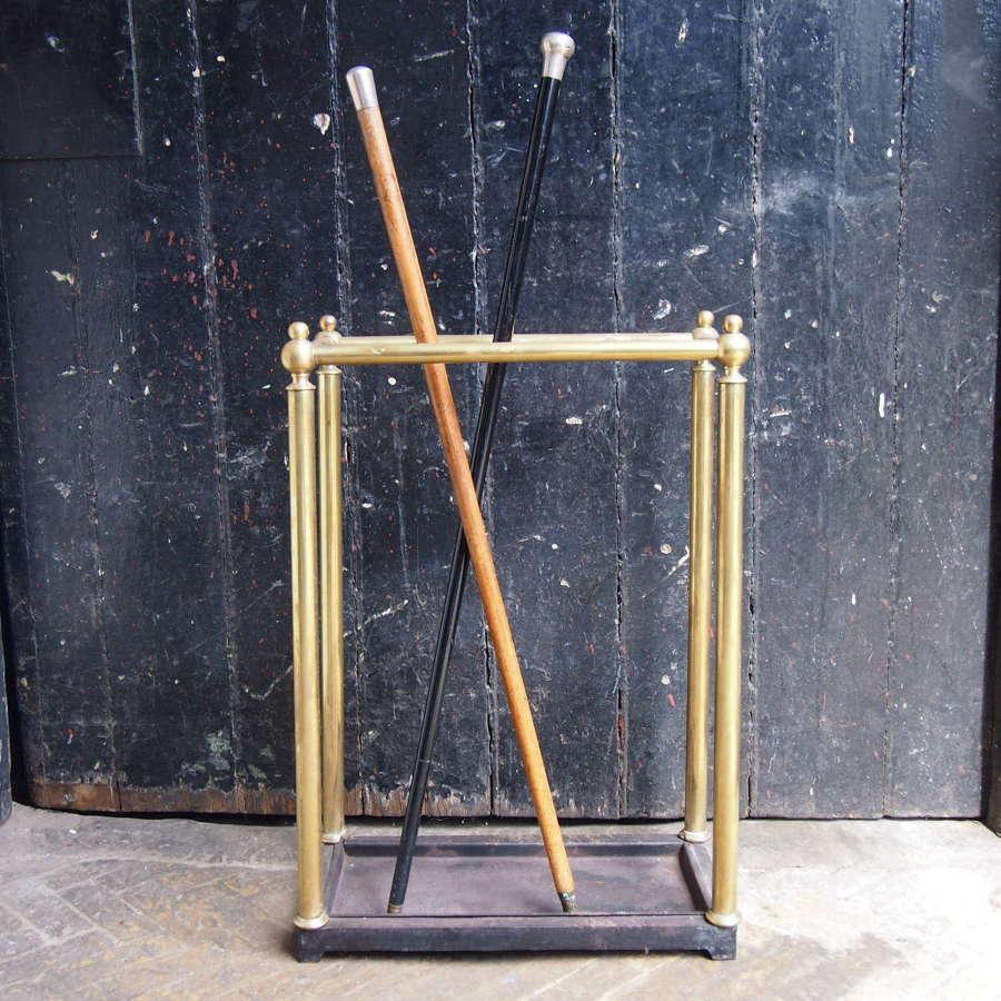Brass & Cast Iron Walking Stick Stand W8684